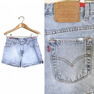 Levi's Vintage Distressed Denim Shorts Cheeky